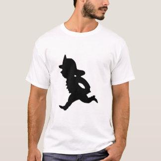 Cartoon Fire Fighter art T-Shirt
