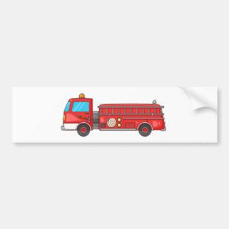 Cartoon Fire Truck/Engine Bumper Sticker
