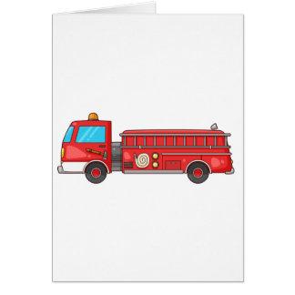Cartoon Fire Truck/Engine Card