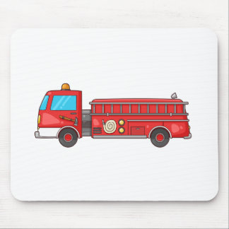 Cartoon Fire Truck/Engine Mouse Pad