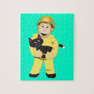 Cartoon Fireman Jigsaw Puzzle