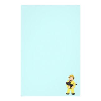 Cartoon Fireman Stationery