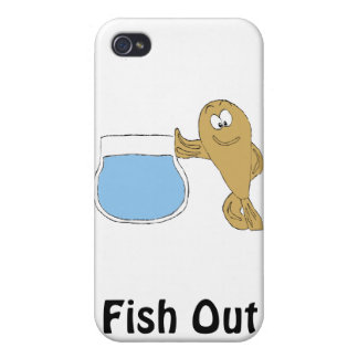 Cartoon Fish By Fish Bowl iPhone 4/4S Covers