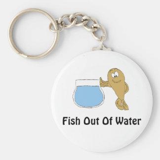 Cartoon Fish By Fish Bowl Keychain