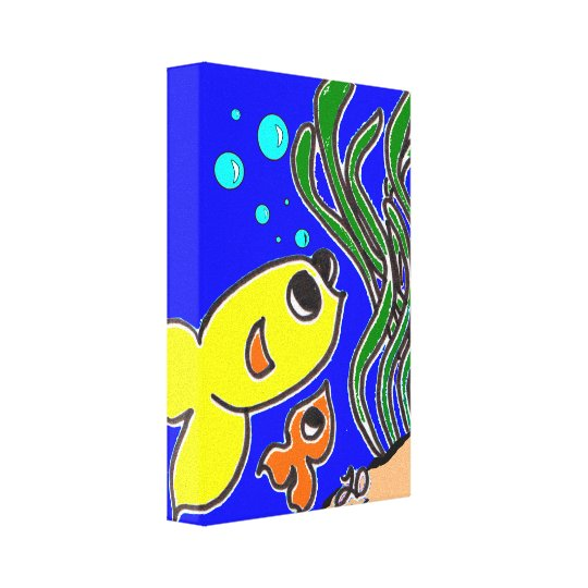 cartoon fish canvas print