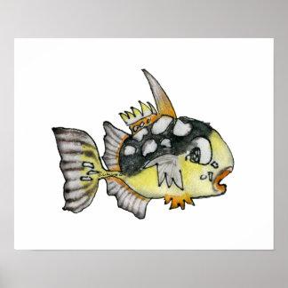 Cartoon Fish Children s Wall Art Poster
