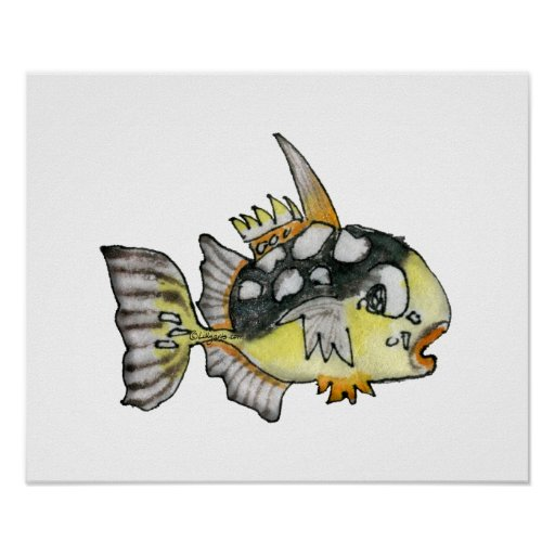 Cartoon Fish Children's Wall Art Poster