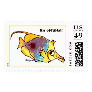 Cartoon Fish Custom Postage Stamps