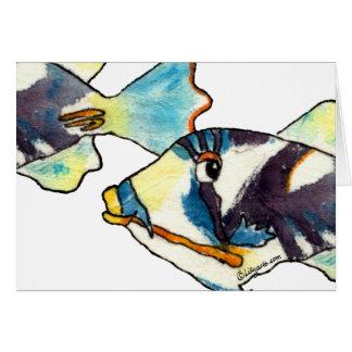 Cartoon Fish Drawing Greeting Card