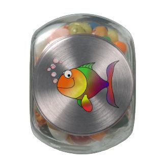 Cartoon Fish Jelly Belly Candy Jar