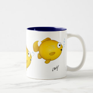 Cartoon fish coffee mug