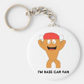Cartoon Fish Nascar Fan Basic Round Button Keychain