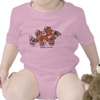 Cartoon Fish Personalized Newborn Baby Onesies zazzle_shirt