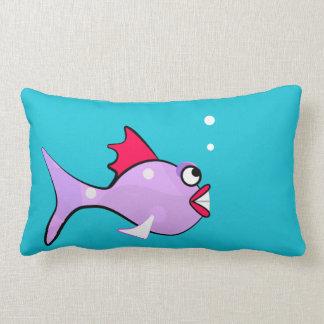 Cartoon Fish - Sea Critter Lumbar Pillow
