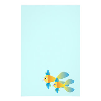 Cartoon Fish Stationery