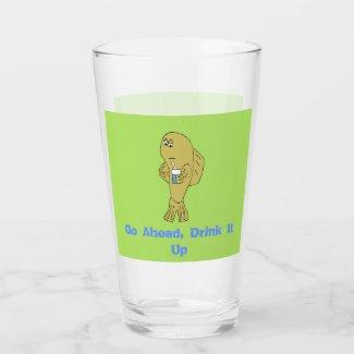 Cartoon Fish With Soda T-Shirt Glass