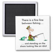 cartoon fishing.. magnet