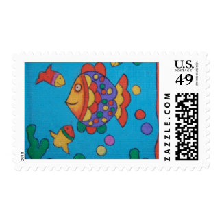 Cartoon fishy! postage