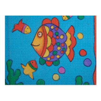 Cartoon fishy! postcard
