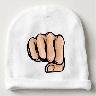 Cartoon Fist Comic Book Style Baby Beanie
