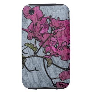 Cartoon Flower Tough iPhone 3 Covers