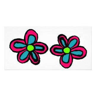 Cartoon Flower Photo Card