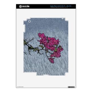 Cartoon Flower Skin For iPad 3