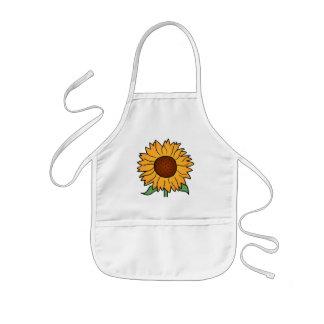 Cartoon Flowers, Summer Floral Sunflower Kids' Apron