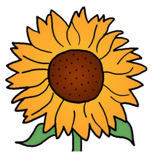Cartoon Flowers Summer Floral Sunflower Photo Sculpture
