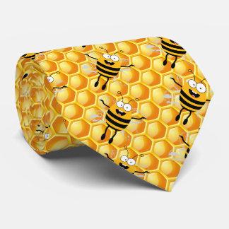 Cartoon Fly Bee honey pattern Neck Tie