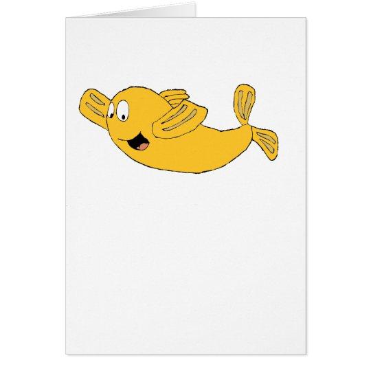 Cartoon Flying Fish Card