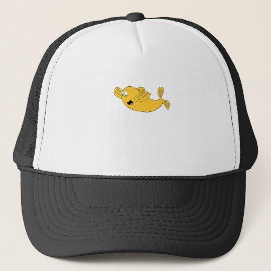 Cartoon Flying Fish Trucker Hat