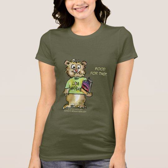 Cartoon Food For Thought Abrahamster T shirt