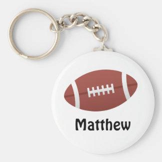 Cartoon football personalized name custom keychain