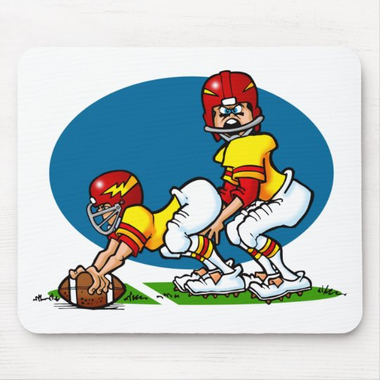 Cartoon Football Players Mouse Pad