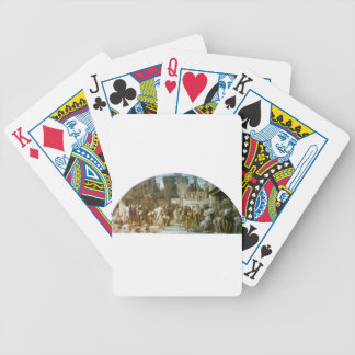 Cartoon for the fresco 'The Arts of Industry Bicycle Playing Cards