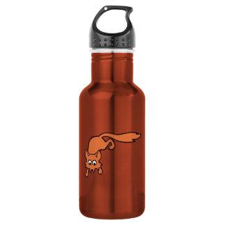 Cartoon Fox Stainless Steel Water Bottle