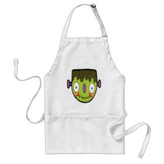 Cartoon Frankenstein Adult Apron