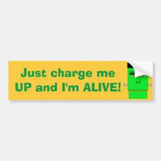 Cartoon Frankenstein I'm Alive! Bumper Sticker