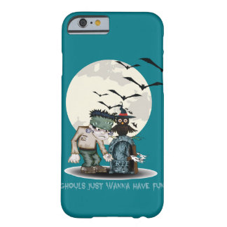 Cartoon Frankenstein next to grave Halloween Barely There iPhone 6 Case