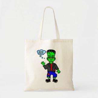 Cartoon Frankenstein's Monster Boy Tote Bag