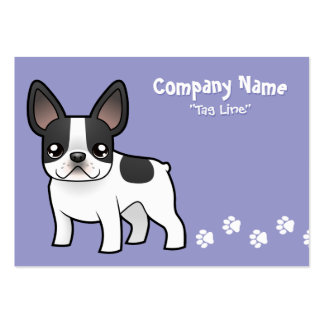 Cartoon French Bulldog Large Business Cards (Pack Of 100)