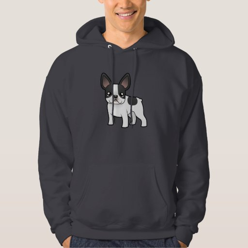 Cartoon French Bulldog Hooded Pullover