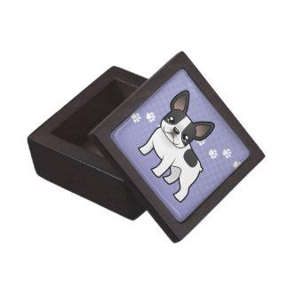 Cartoon French Bulldog Keepsake Box