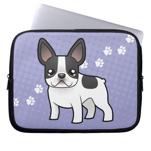 Cartoon French Bulldog Laptop Sleeve