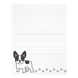 Cartoon French Bulldog Letterhead