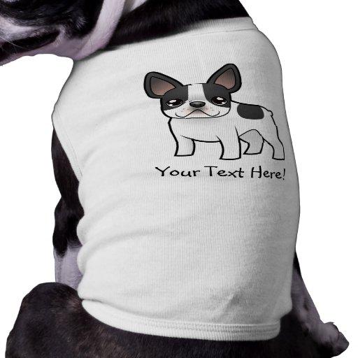Cartoon French Bulldog Pet Tee Shirt