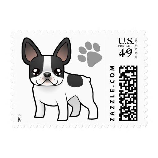Cartoon French Bulldog Postage