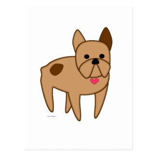 Cartoon French Bulldog Postcard