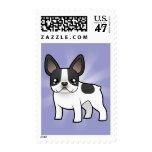 Cartoon French Bulldog Stamp